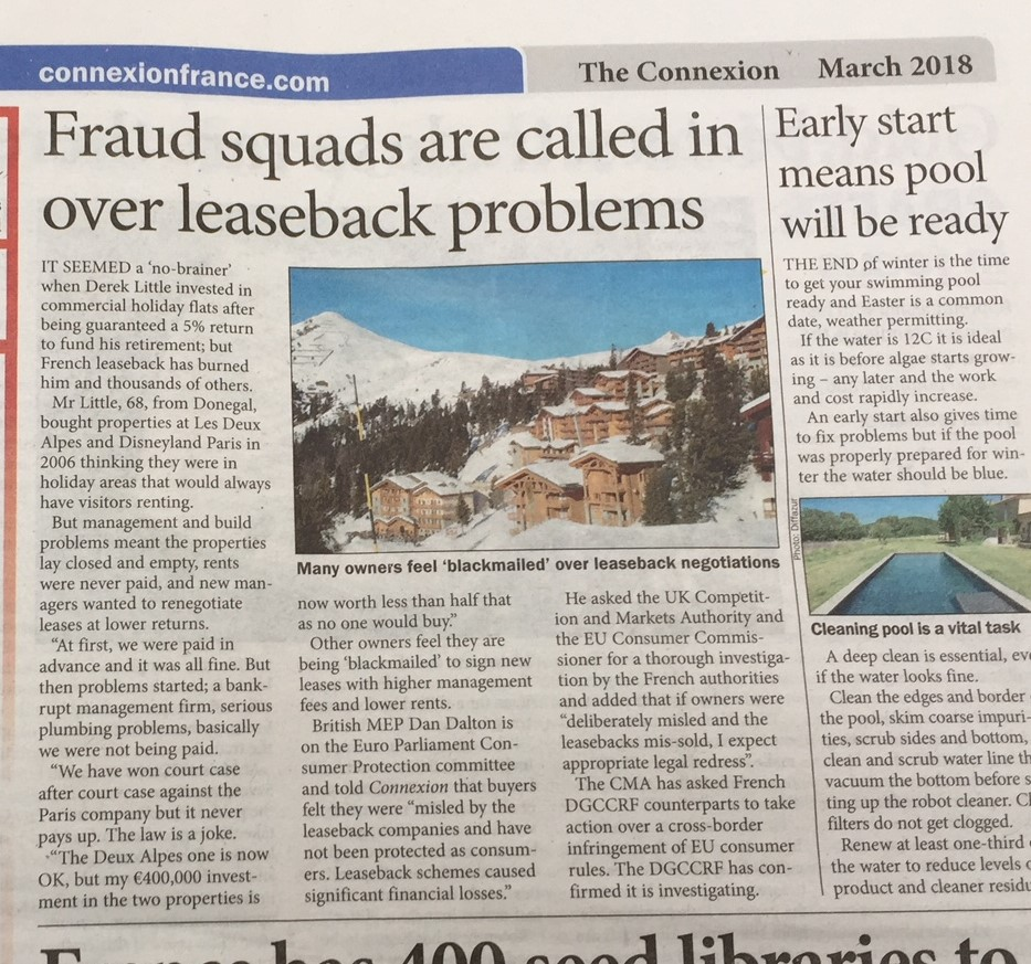 Press Updates - 2018 - French Leaseback
